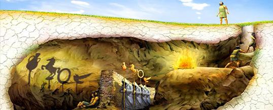Il mito della caverna di platone gian battista gualdi for Planimetrie della caverna dell uomo