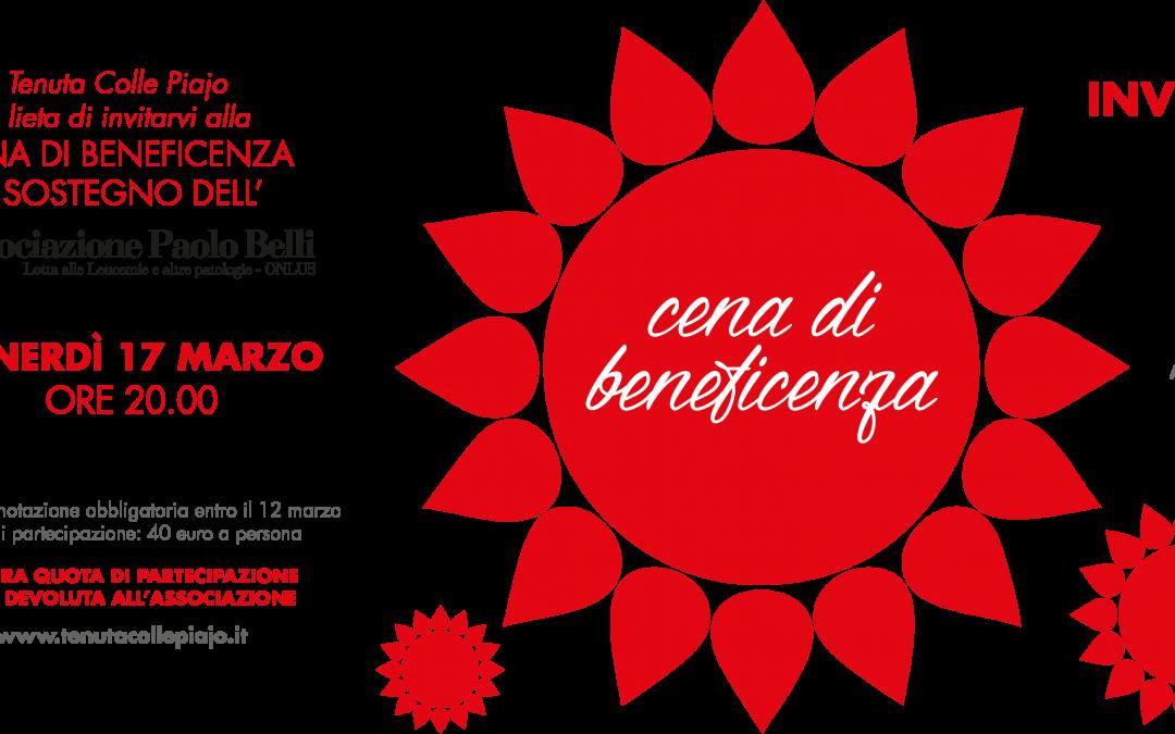 Partecipa alla serata dedicata alla raccolta fondi per l'associazione Paolo Belli – Venerdì 17 Marzo